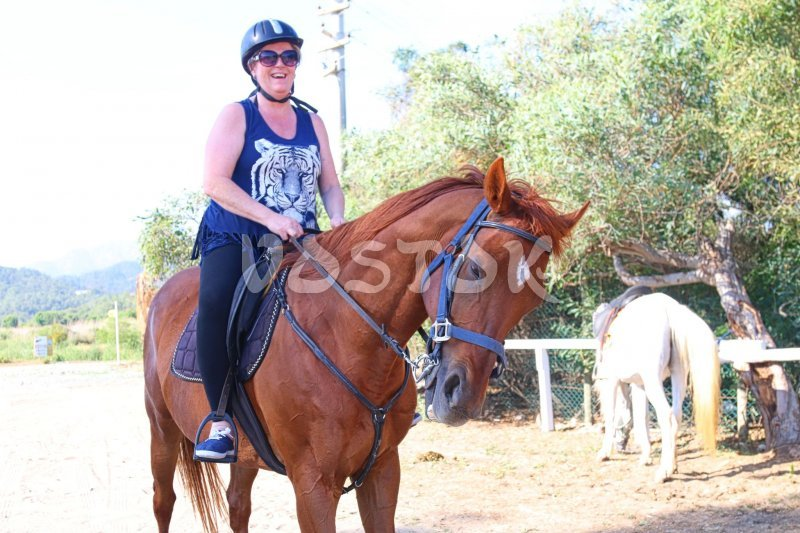 It is real joy to ride such a friendly horse - Desperado Ranch Fethiye