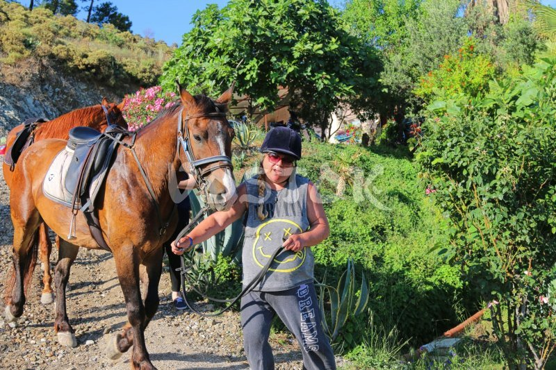 Coming back to Desperado ranch in Yaniklar - Fethiye Horse Riding