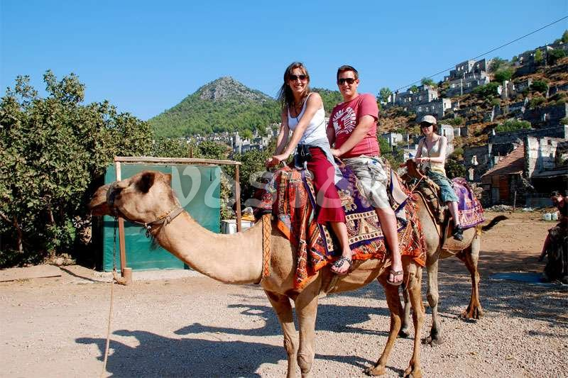Couples may ride the same camel - Camel Rides in Turkey