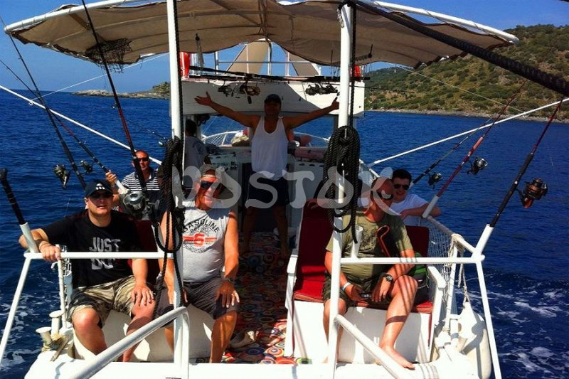 Real fishing is men job - Fishing in Oludeniz Turkey