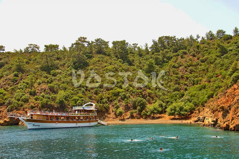 Swimming stop during a 12 island boat trip from Fethiye