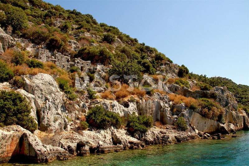 Ruins of ancient city Kekova - Oludeniz to Kalkan Trip