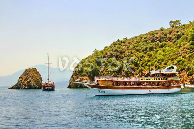 Typical double deck boat - Fethiye Boat Trips