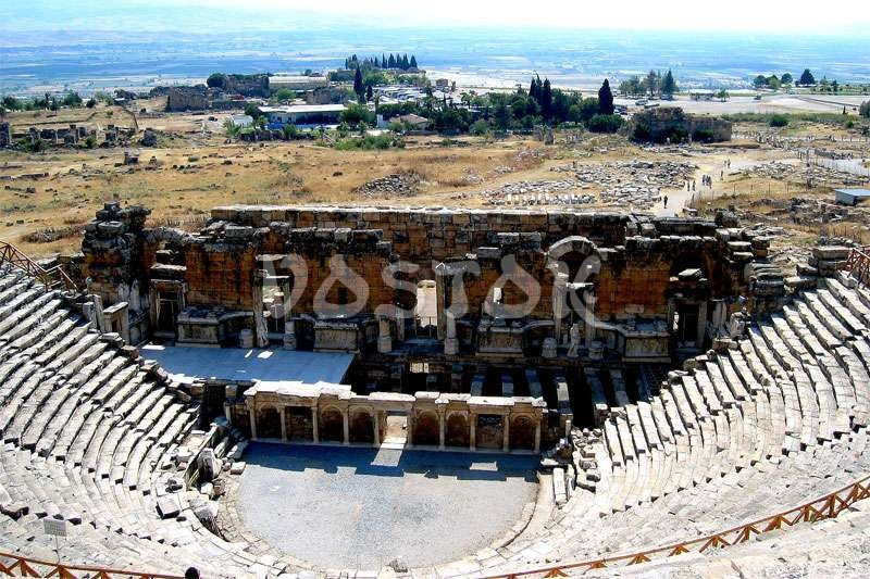 Theater in ancient city of Hierapolis