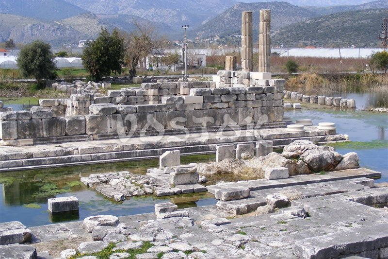 Ruins of Letoon Temple in Xanthos near Fethiye