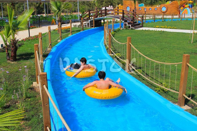 The Lazy River for rafting in Oludeniz water park