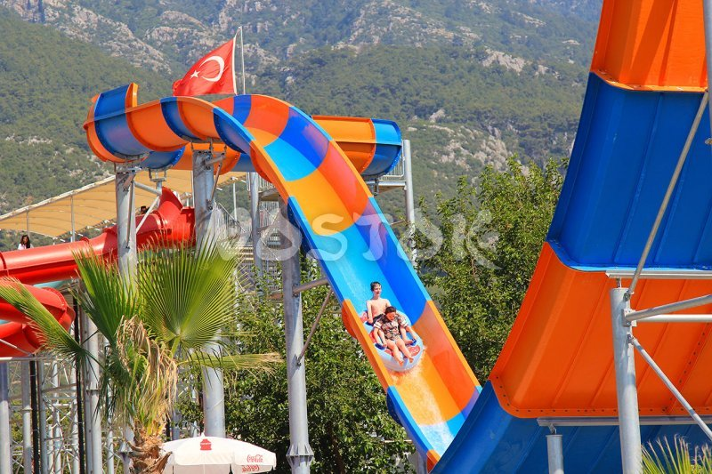 The Boomerang slide from the right side - Fethiye water park