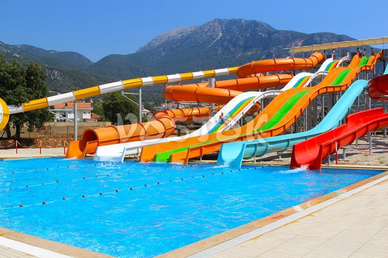 Swimming pool and slides - Ovacik water park