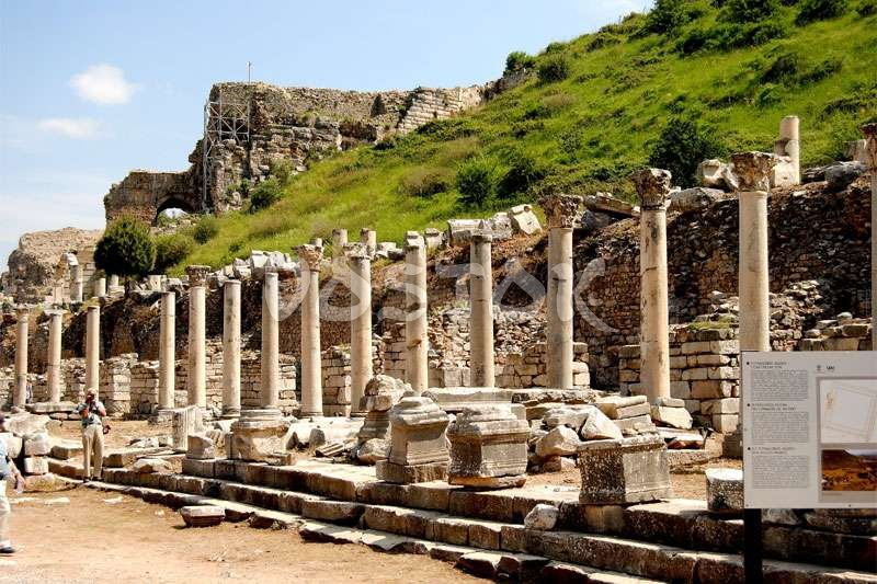 Well preserved ruins at open air Ephesus museum