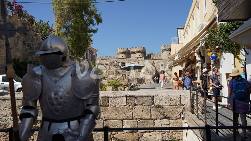 Iron man near the Grand master palace - Rhodes Day Trip from Fethiye