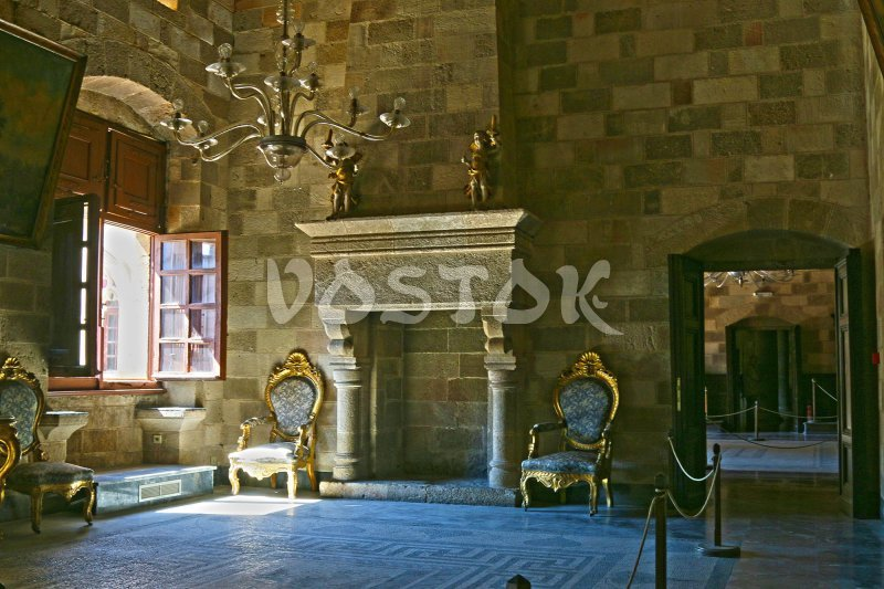 Inside the Palace of Grand Master of Rhodes