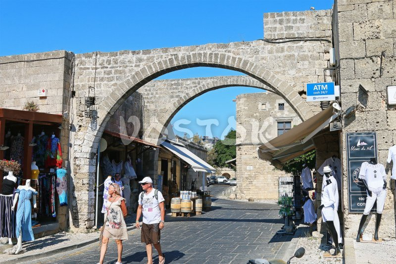 Walking the streets of old town - Ferry Fethiye to Rhodes