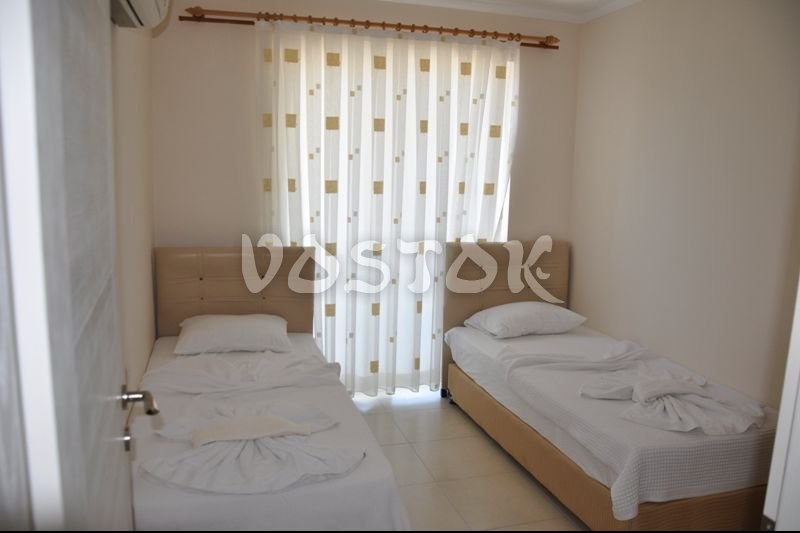 Twin beds bedroom - Blue Green apartments Fethiye