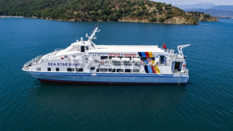 Fethiye to Rhodes ferry timetable - everyday in high season