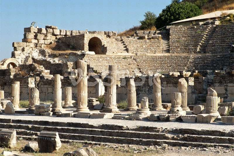 Ancient theater in Ephesus Turkey