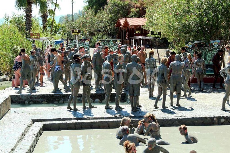 Dalyan mud bath is good for your skin and health in general