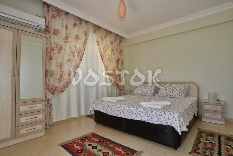 King size bed bedroom - Mango villa in Calis Fethiye Turkey