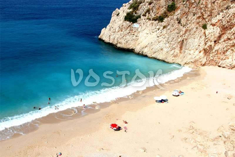 One of the most picturesque beaches in Turkey - Kaputas Beach - Guided tour from Oludeniz Hisaronu Fethiye to Kas Kalkan Myra Kekova