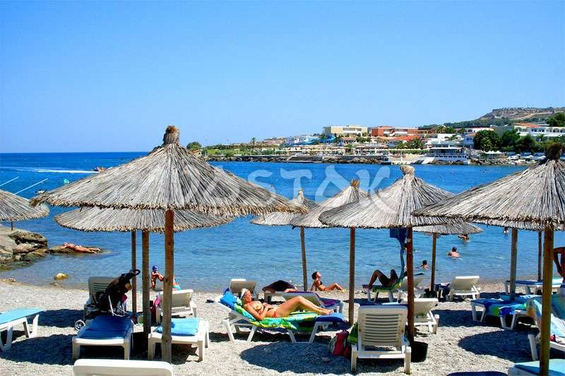 Beach at Rhodes Island Greece