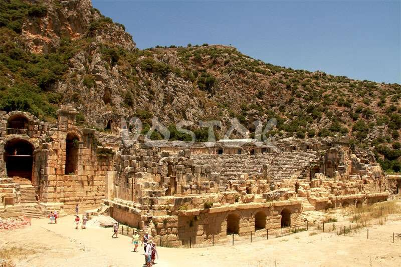 The remains of Roman theater in Myra - Fethiye Kalkan