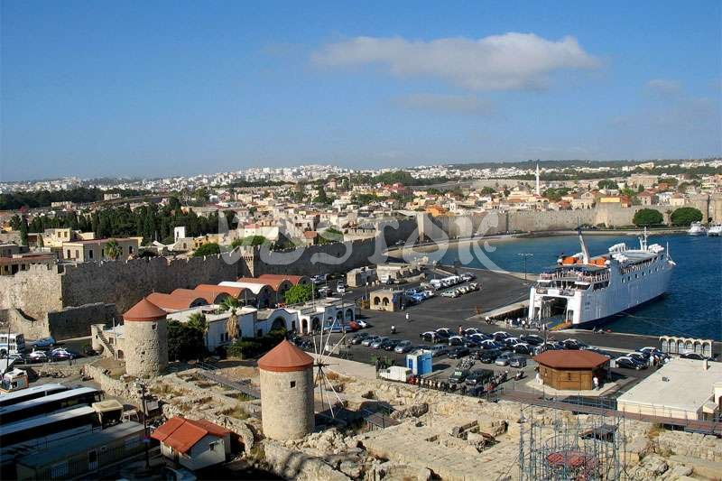 Port of Rhodes Greece