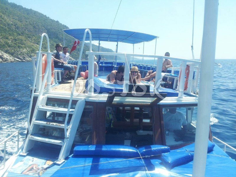 Sun deck of Fly Bird boat (Oludeniz, up to 20 people) - Private Boat Hire Oludeniz