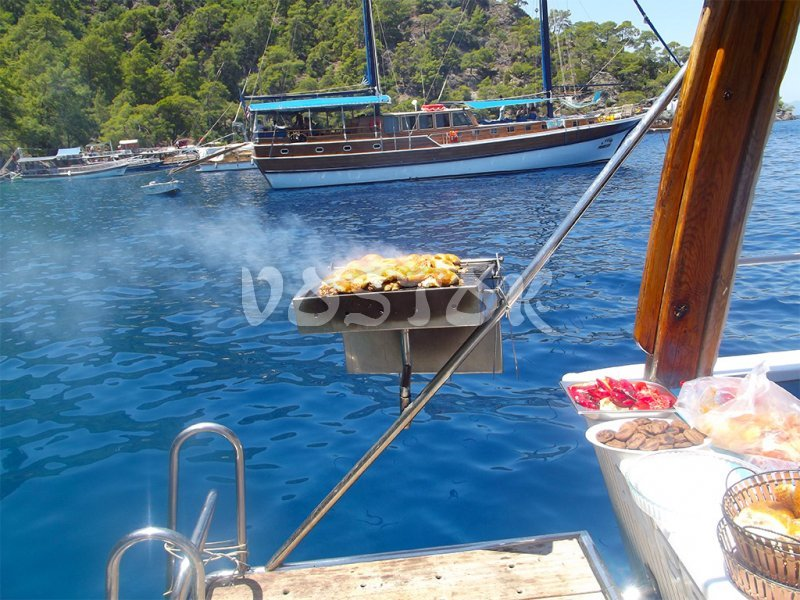 Lunch is almost ready for serving aboard - Private Boat Hire Fethiye