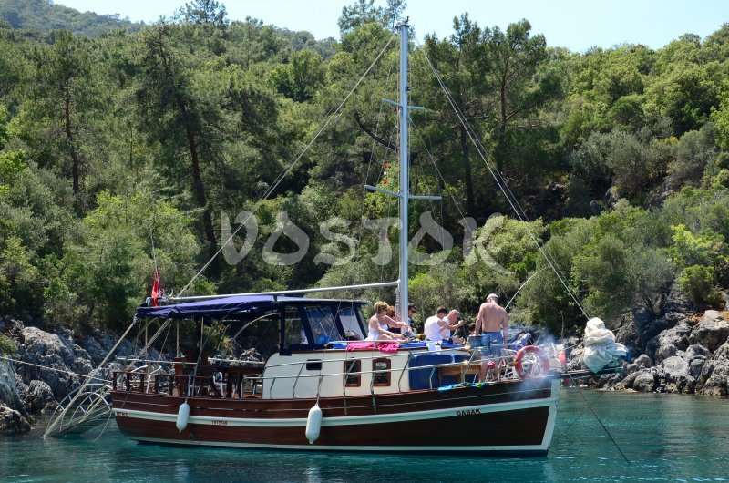 Sailing Boat Gabak is great for small companies and large families - Private Boat Hire Fethiye