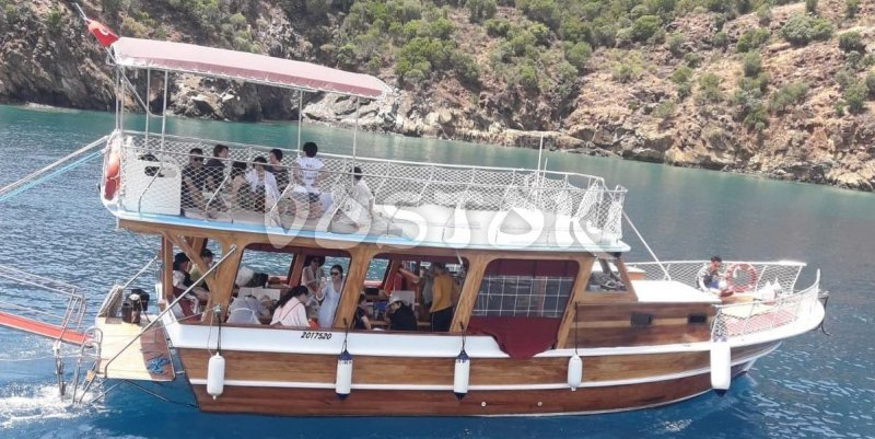 Kardesim M Boat is available for private boat rent from Fethiye harbor