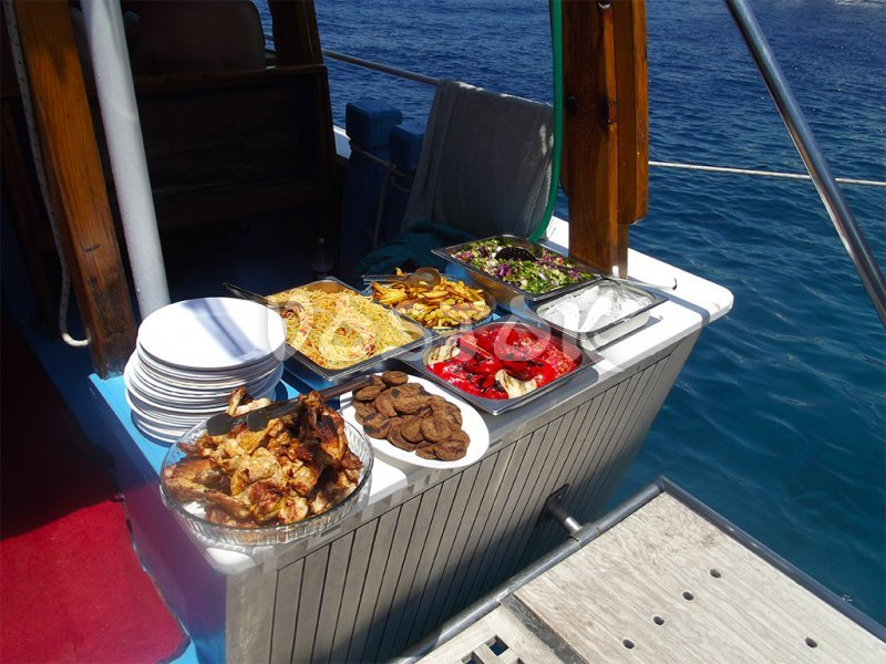 Open buffet lunch aboard - Private Boat Hire Fethiye