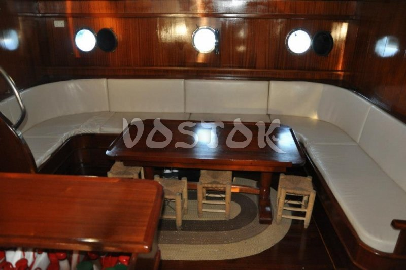 Cabin of Kardesler 3 is big enough for big group of people - Private Boat Hire Fethiye