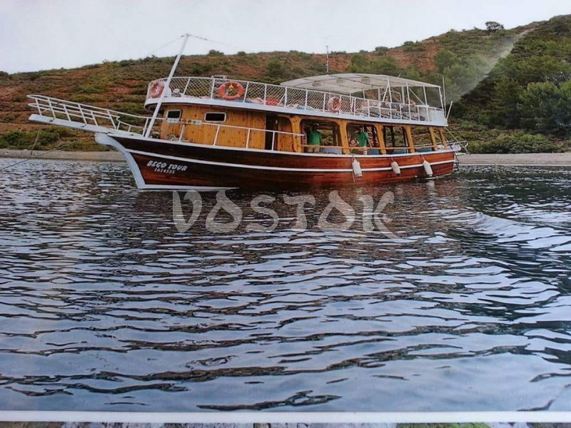 The Beco Tour boat is eligible for 40 people and available for daily rent from Fethiye harbor