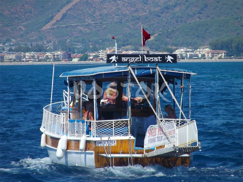Sweet Pea boat is heading back to Fethiye harbour - Private Boat Hire Fethiye