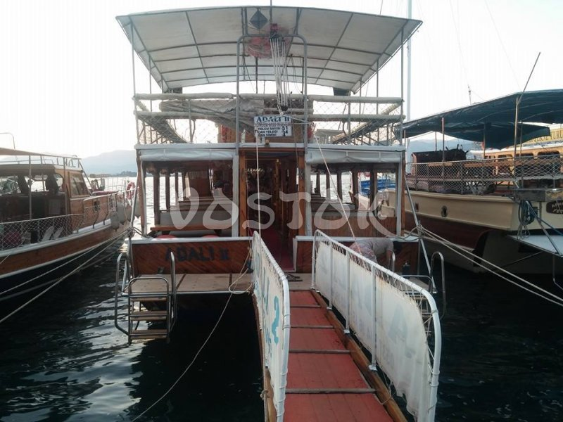The Adali 2 boat is suitable for big groups of people - up to 50 persons - Private Boat Hire Fethiye