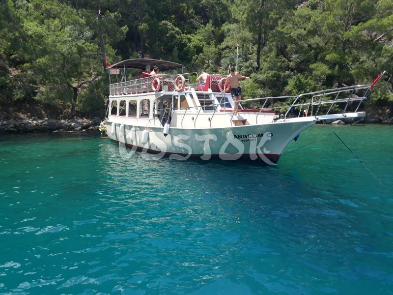 Renovated Angel Boat is able to accommodate up to 25 people - Fethiye Private Boat Hire