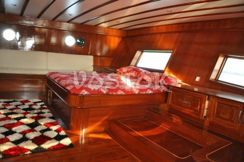 Cabin of Kardesler 3 sailing boat - Private Boat Hire Fethiye
