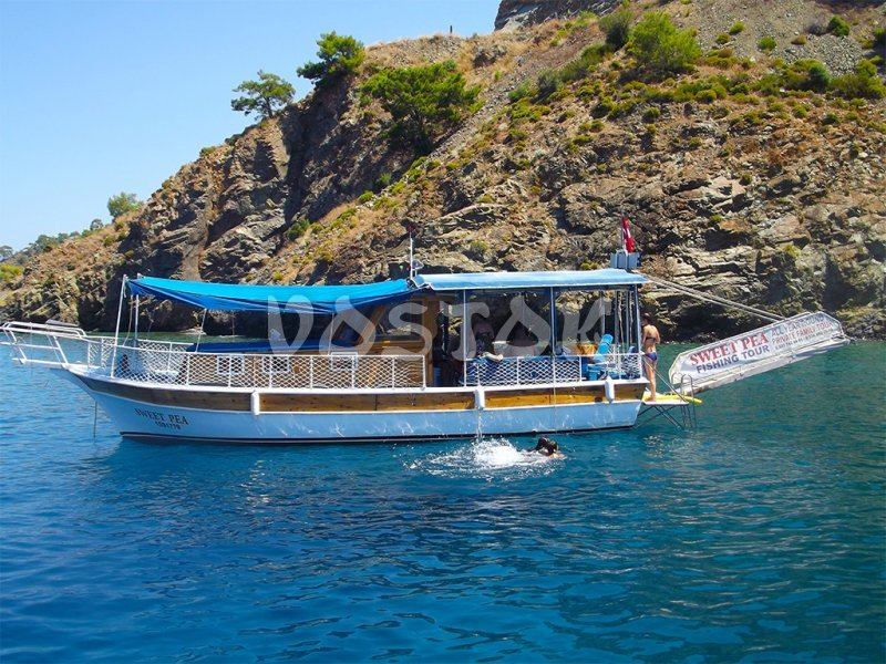 Sweet Pea boat - up to 12 people (10 sunbeds) - Private Boat Hire Fethiye