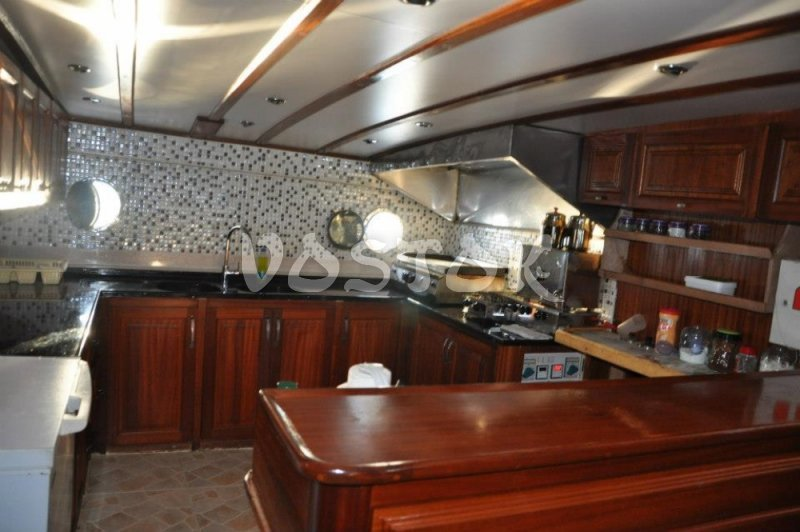 Cabin kitchen of private sailing boat Kardesler 3 - Private Boat Hire Fethiye
