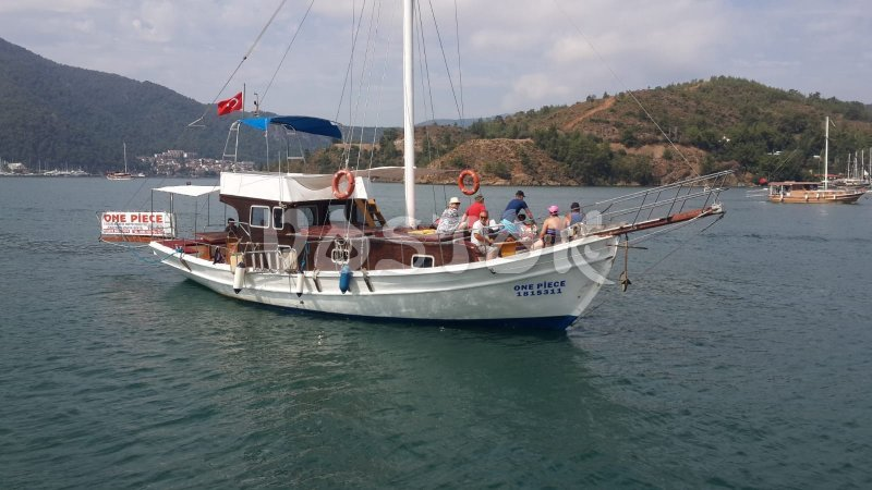 The One Piece boat is available for daily rent from Fethiye harbor