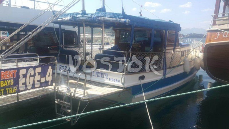 EGE 4 Boat has capacity up to 10 people and available for private boat hire from Fethiye Turkey