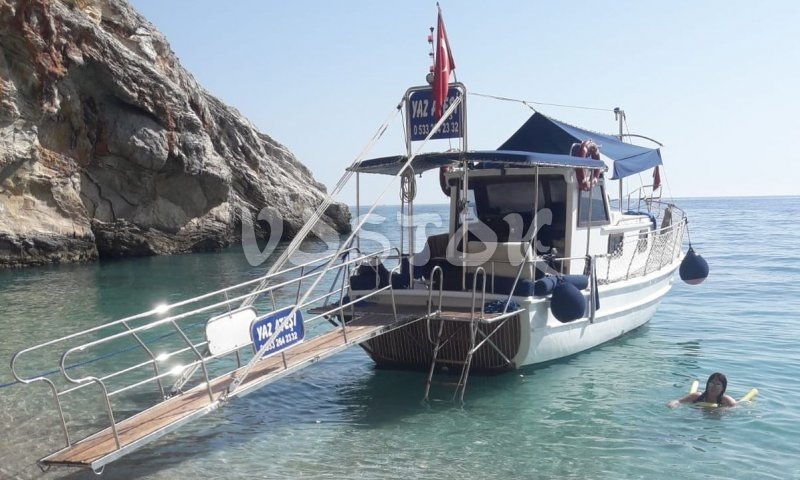 Yaz Atesi boat is available for private boat hire from Oludeniz Beach