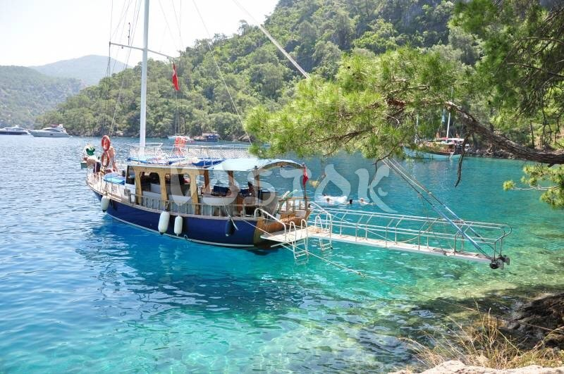 The Moonlight Boat is available for daily private hire from Fethiye harbor