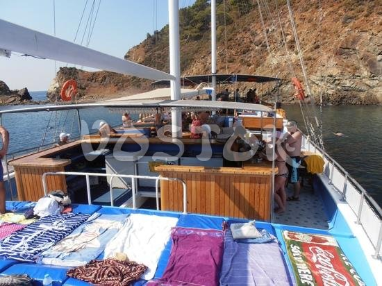 Sun deck of our sailing boat - Private Boat Hire Fethiye