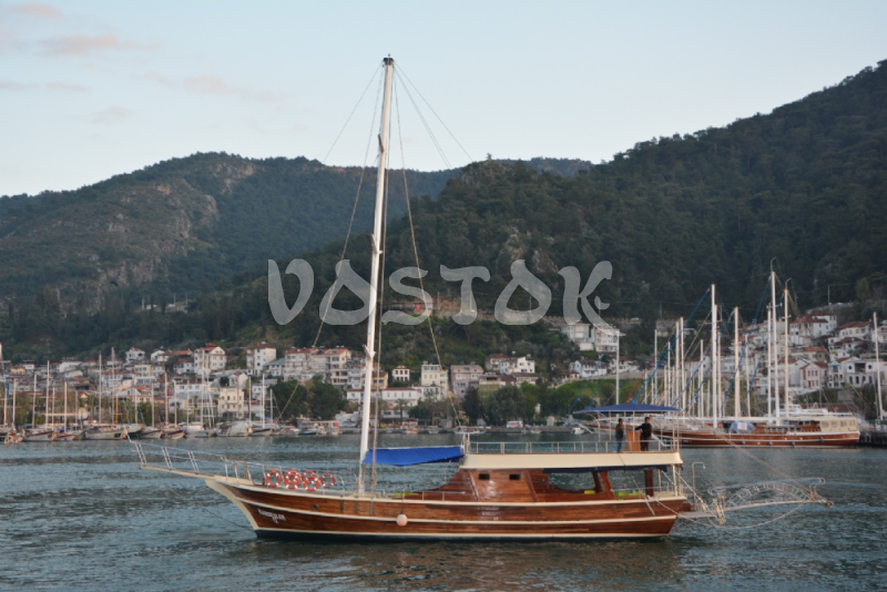 Kardesler 12 boat is available for daily private boat hire from Fethiye harbor