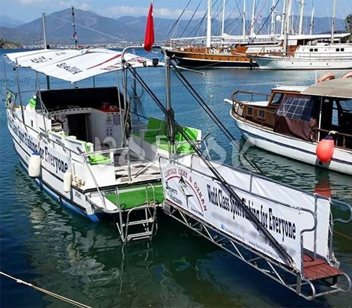 The small Karagoz boat is available for daily private hire from Oludeniz beach
