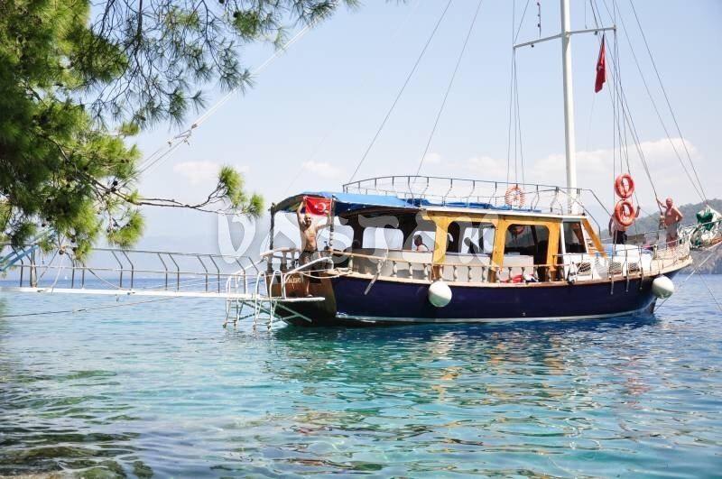 The Moonlight Boat is great choice for groups up to 25 people - Private Boat Hire Fethiye