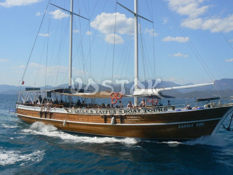 The luxury Carole Ann gulet is available  for rent from Fethiye Harbor