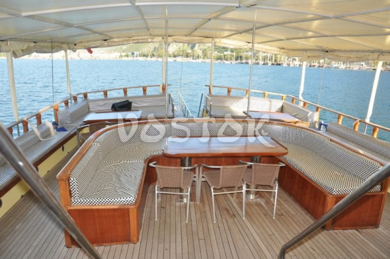 The deck of Kardesler 3 boat - Private Boat Hire Fethiye