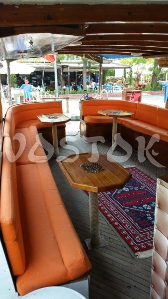 Cozy interior or Moonlight Boat is inviting for comfortable journey - Private Boat Hire Oludeniz