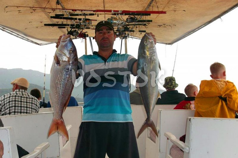Grouper and Tuna trophies at Fethiye fishing boat trip